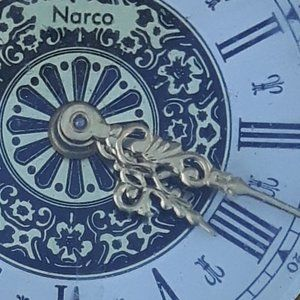 Germany German Clock Mantel Shelf Narco Pearl